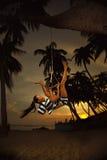 Girl on the swing Stock Photos