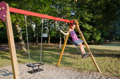 Girl on the swing Royalty Free Stock Photography