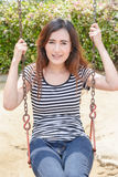 Girl on a swing Royalty Free Stock Images