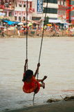 Girl Swinging Royalty Free Stock Images