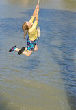Girl swinging Royalty Free Stock Photo