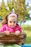 Girl swinging Stock Photo