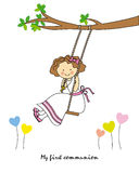 Girl swinging Royalty Free Stock Images