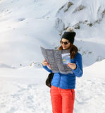 Girl in the Swiss Alps Royalty Free Stock Photography