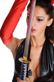 Girl with a sword Stock Photo