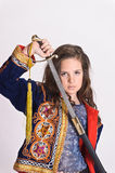 Girl with sword Royalty Free Stock Photos