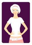 Girl in t-shirt. Vector illustration Stock Image