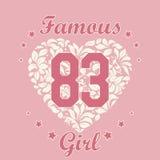 Girl T-shirt Design Stock Images
