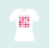 Girl t-shirt design Stock Photo