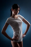 Girl in a T-shirt Royalty Free Stock Images