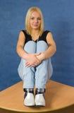 Girl on table Stock Photo