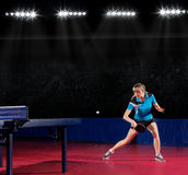 Girl table tennis player (interior ver) Stock Image