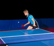 Girl table tennis player  Royalty Free Stock Photo