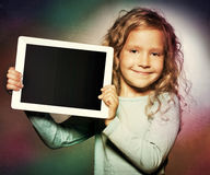 Girl with tablet computer Royalty Free Stock Photos