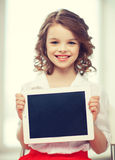 Girl with tablet pc Stock Photography