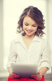 Girl with tablet pc Stock Image