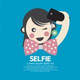 Girl Take A Selfie Shot Royalty Free Stock Photos