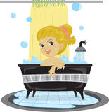 A Girl Taking Bath Royalty Free Stock Images