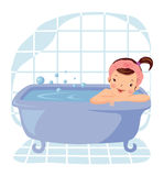 Girl taking bath Stock Photos