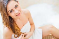Girl taking a bath Stock Photography