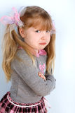 Girl taking great offence. Little girl taking great offence Royalty Free Stock Image