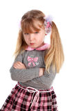 Girl taking great offence. Little girl taking great offence Royalty Free Stock Images