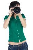 Girl taking photo Royalty Free Stock Photos