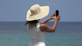 Girl Taking Photos On Spring Break stock video footage