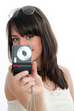 Girl taking picture Royalty Free Stock Photos