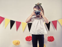Girl taking pictures Royalty Free Stock Photo