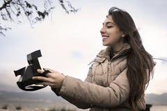 Girl Taking Selfie Royalty Free Stock Images