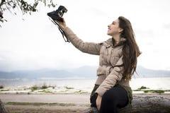 Girl Taking Selfie Stock Photos
