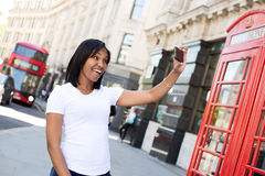 Girl taking a selfie Royalty Free Stock Photography