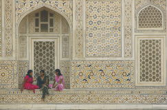 Girls Talking - Itimad-ud-Daulah - Agra - India Royalty Free Stock Photo