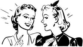 Girl Talk royalty free illustration