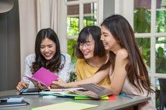 Girl talk. Group of beautiful Asian girls meeting and fun talk Stock Images