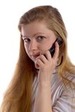 Girl Talking on Cell Phone Royalty Free Stock Photo