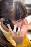 Girl talking cell phone Royalty Free Stock Photos