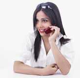 Girl talking on the cell phone Royalty Free Stock Photography