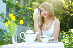 girl talking on a cell phone Royalty Free Stock Image
