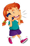 Girl talking on the cellphone Royalty Free Stock Image