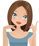 Girl Talking And Gesturing Stock Images