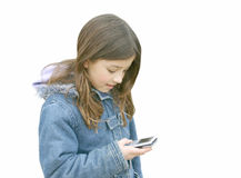 Girl talking on mobile 3 Royalty Free Stock Photography