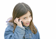 Girl talking on mobile 4 Royalty Free Stock Photo