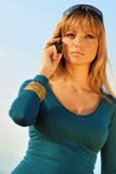 Girl talking on the mobile phone Royalty Free Stock Images
