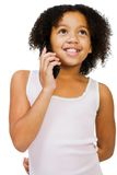 Girl talking on mobile phone Royalty Free Stock Photography