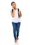 Girl talking mobile phone Royalty Free Stock Photos