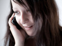 Girl talking on a mobile phone II Stock Photo
