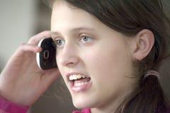 Girl talking on mobile Royalty Free Stock Image