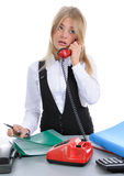 The girl, talking on phone Stock Photography